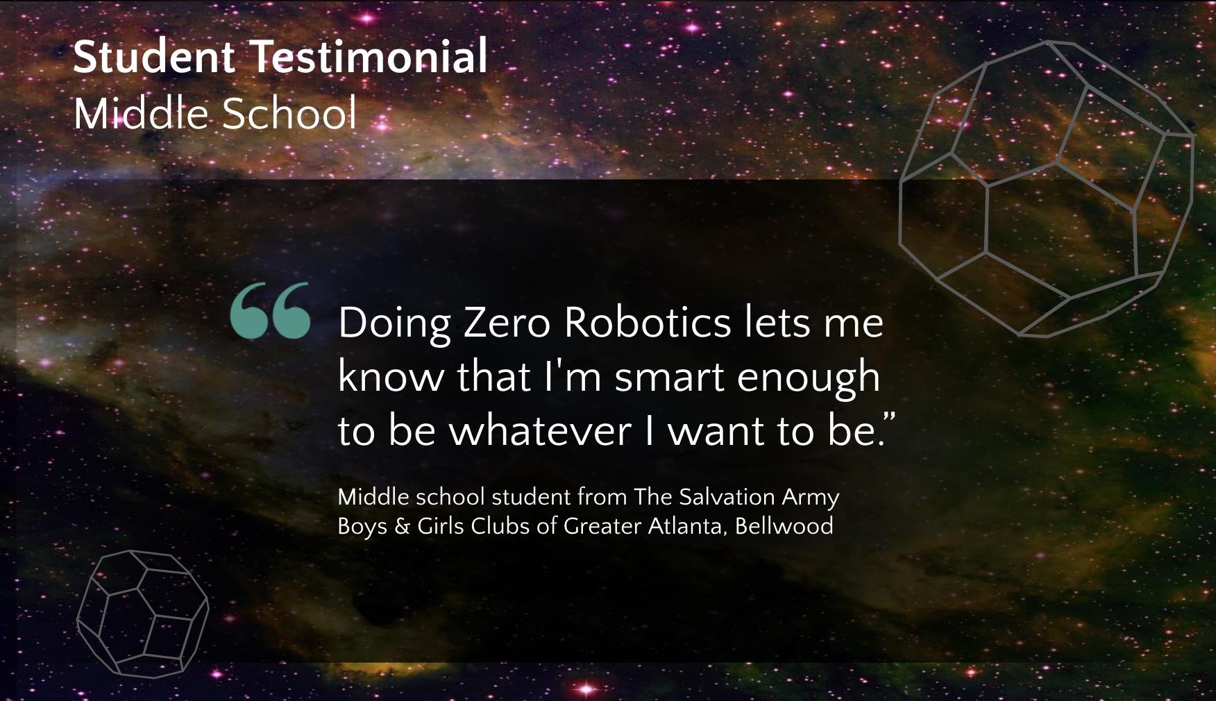Zero Robotics High School Tournament 2018